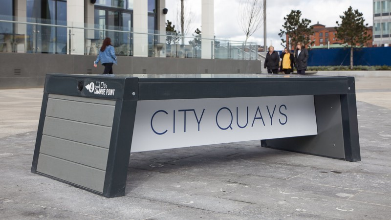 Stellar Bench at City Quays - Environmental Street Furniture